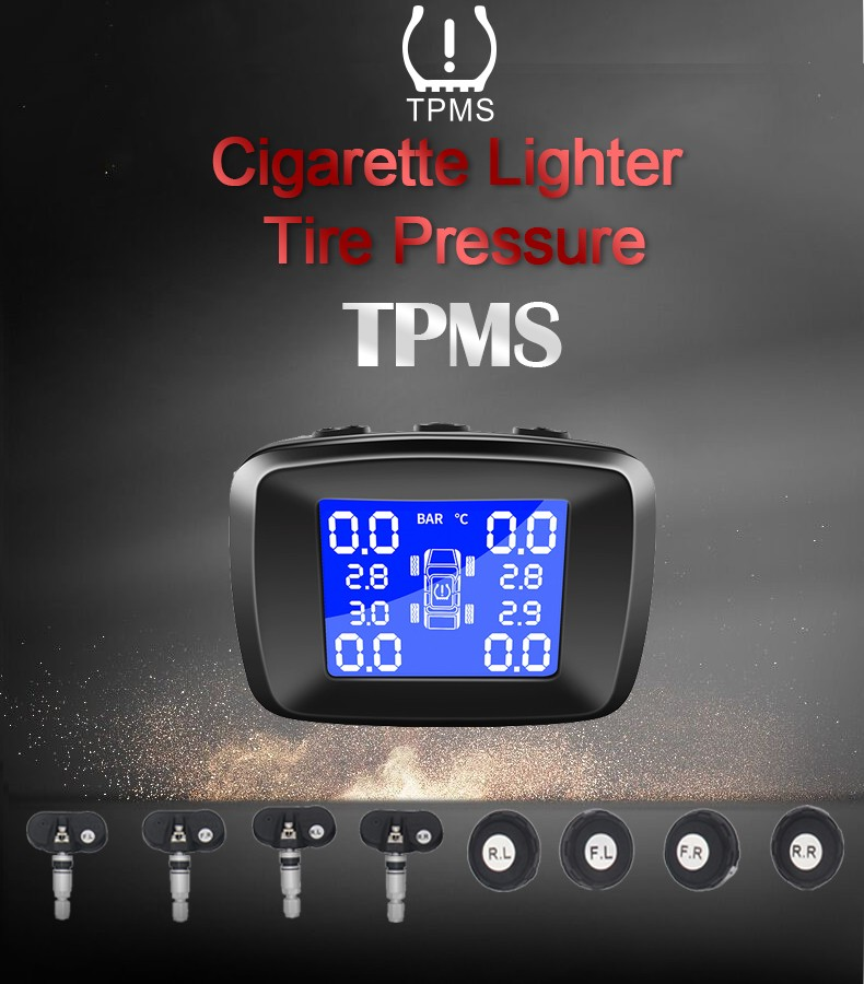 cigarette plug Internal wireless Real-time Car Tire Pressure Monitoring System  TPMS FY013